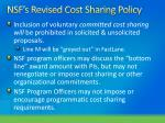 nsf s revised cost sharing policy1