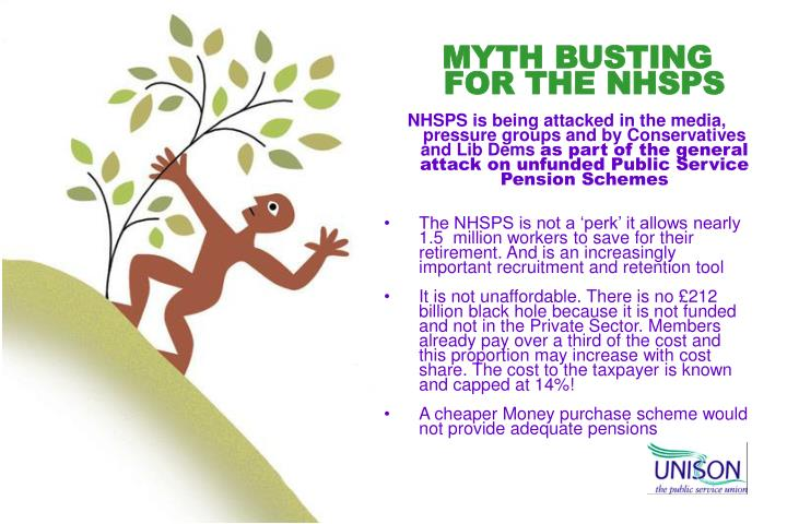 MYTH BUSTING FOR THE NHSPS