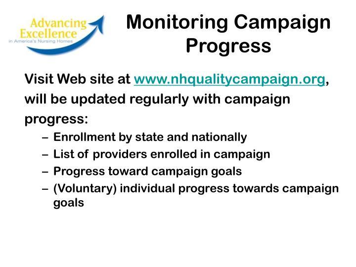 Monitoring Campaign Progress