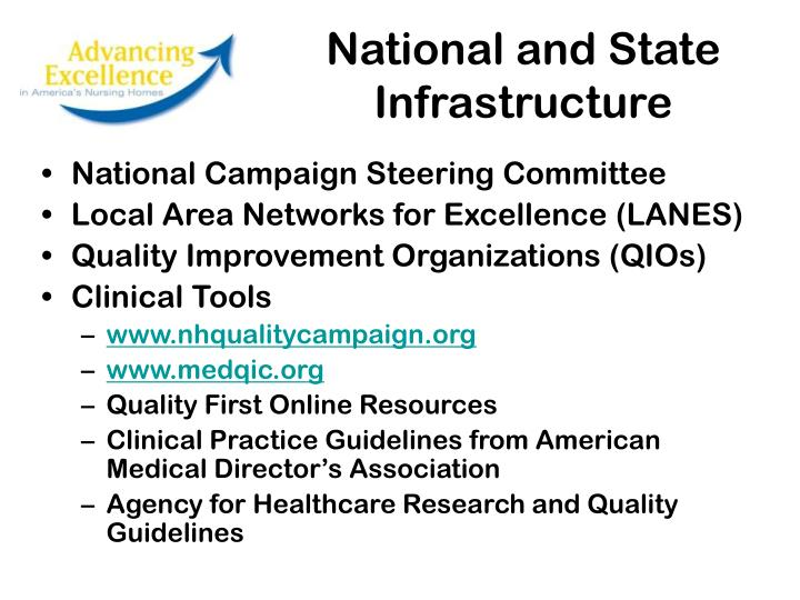 National and State Infrastructure