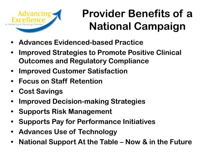 Provider Benefits of a