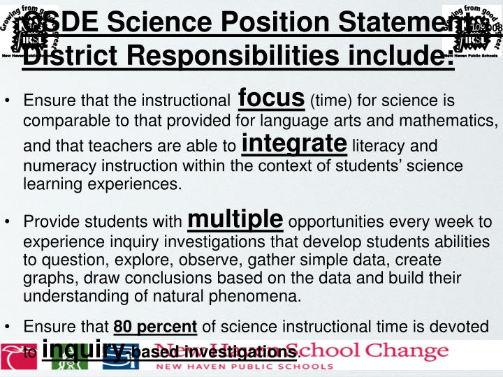 CSDE Science Position Statement