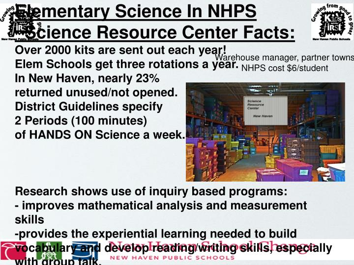 Elementary Science In NHPS