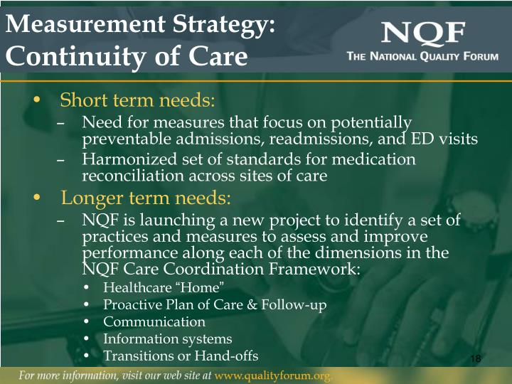 Measurement Strategy: