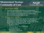 measurement strategy continuity of care