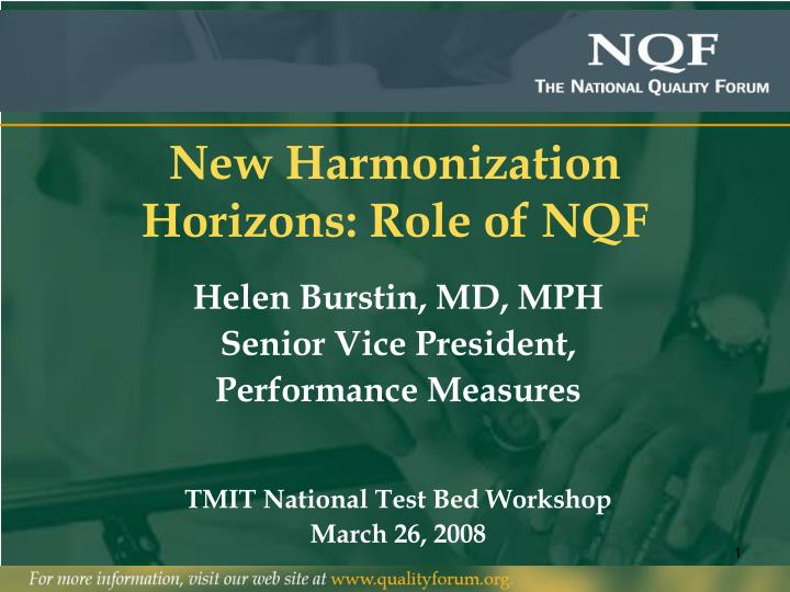 New harmonization horizons role of nqf