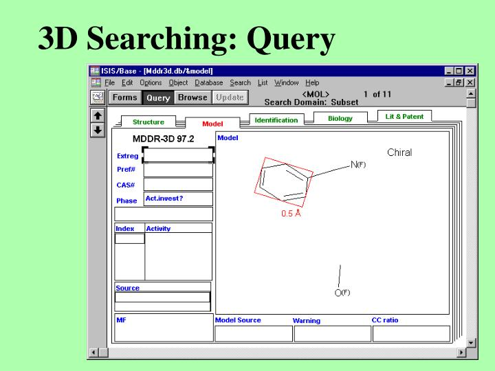 3D Searching: Query