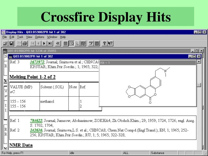 Crossfire Display Hits