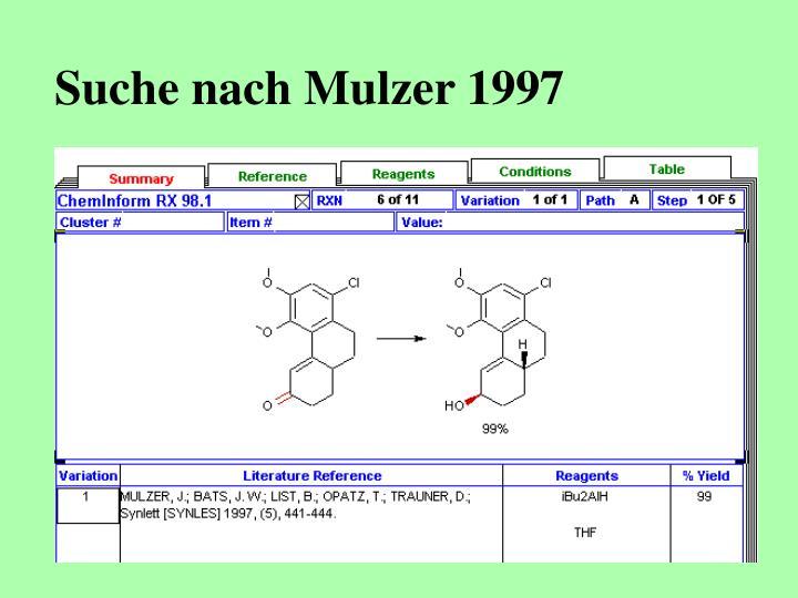 Suche nach Mulzer 1997