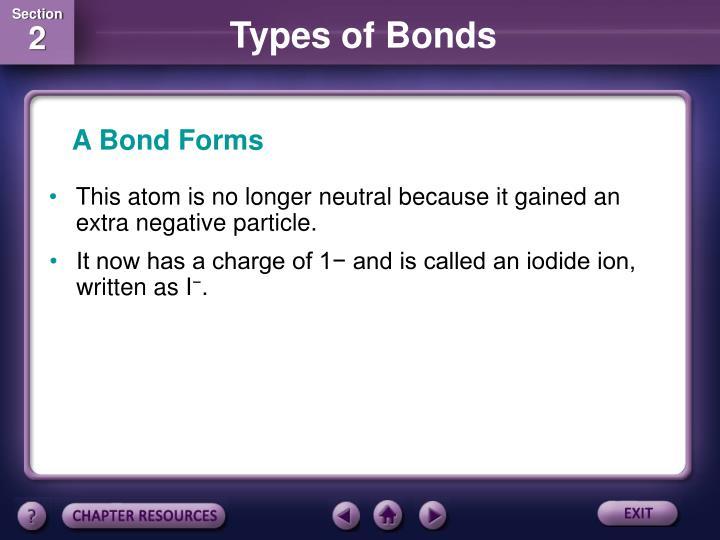 A Bond Forms