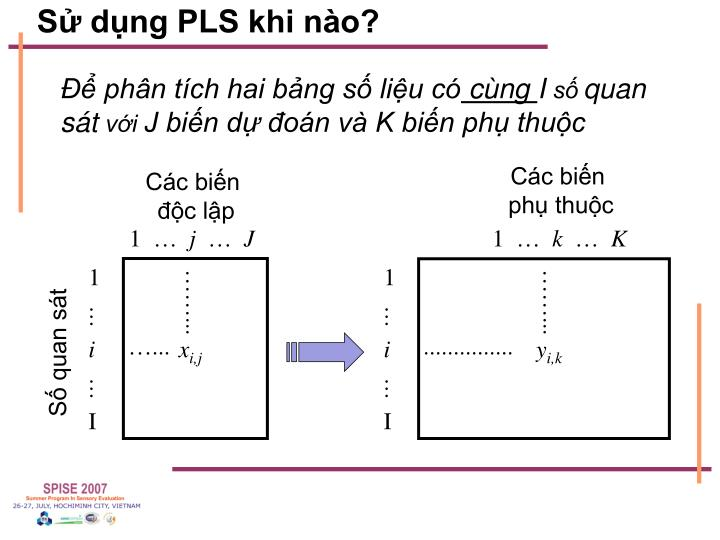 Sử dụng PLS khi nào?