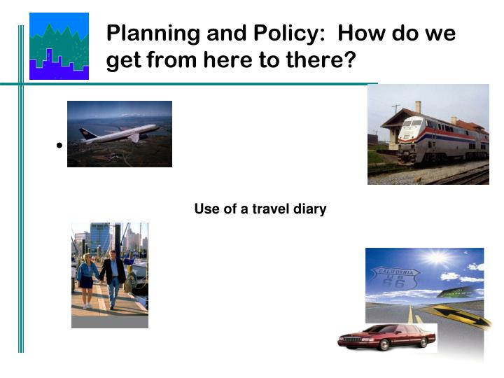 Planning and Policy:  How do we get from here to there?