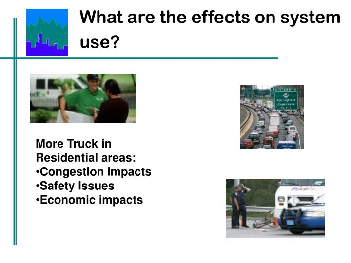 What are the effects on system use?