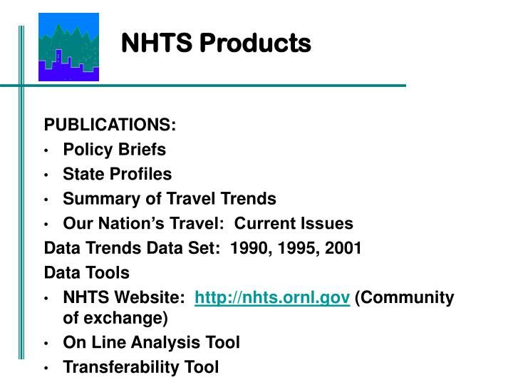 NHTS Products