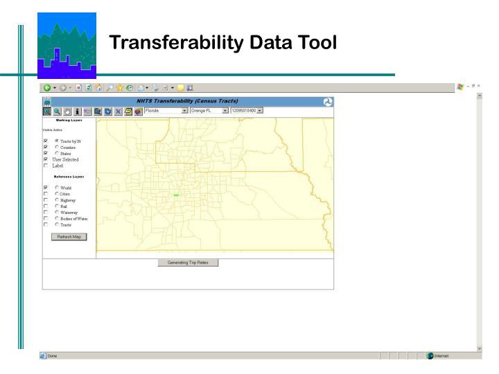 Transferability Data Tool