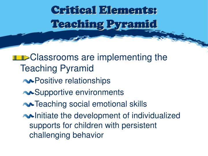 Critical Elements: