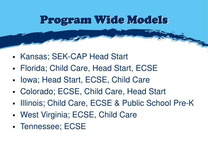Program Wide Models