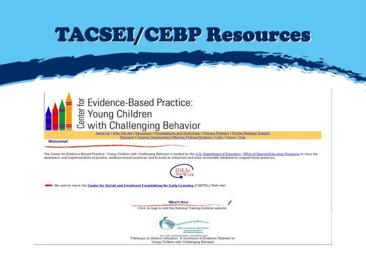 TACSEI/CEBP Resources