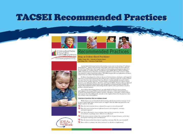 TACSEI Recommended Practices