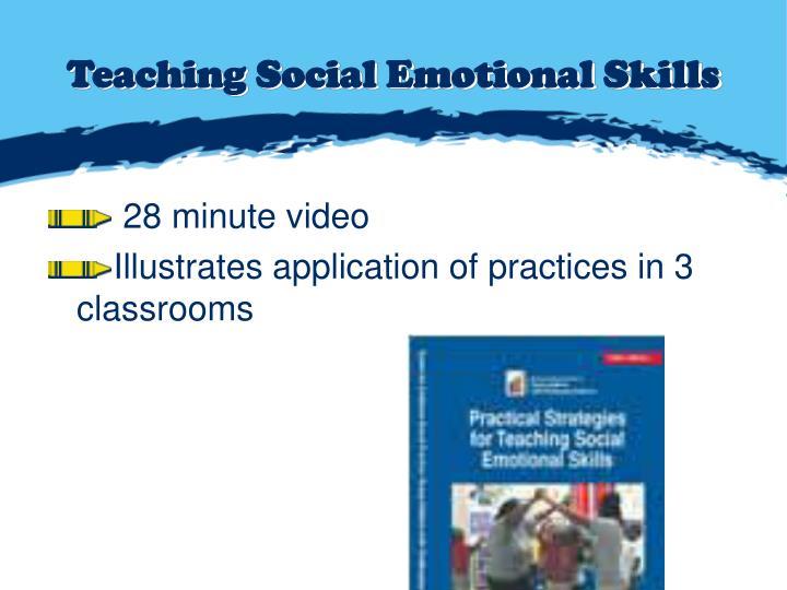 Teaching Social Emotional Skills