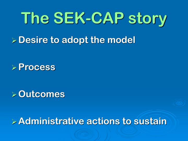 The SEK-CAP story