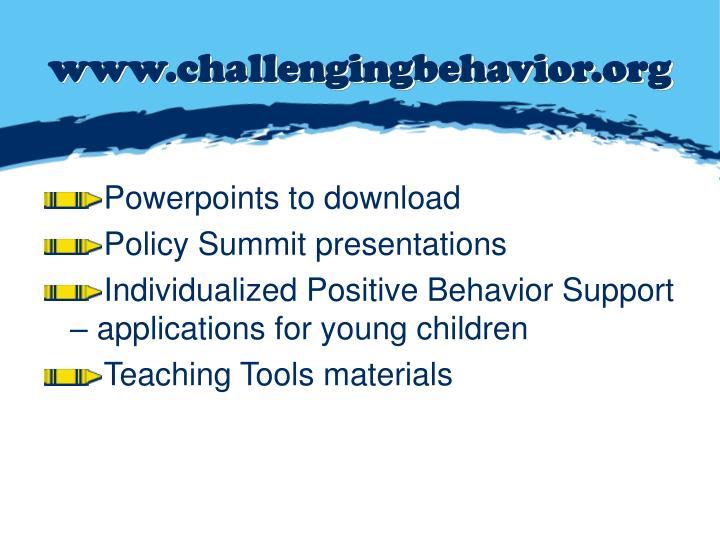 www.challengingbehavior.org