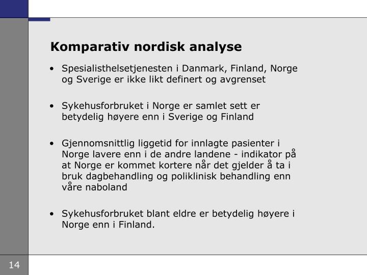 Komparativ nordisk analyse