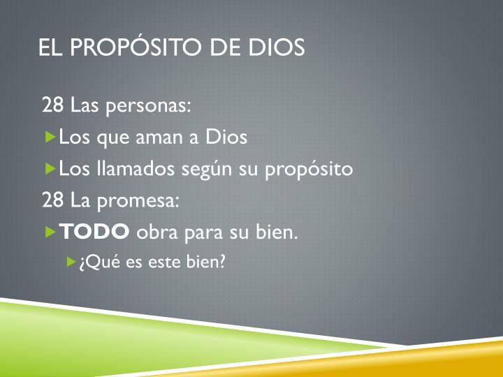 El propósito de dios