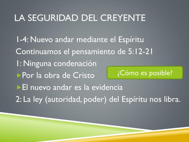 LA SEGURIDAD DEL CREYENTE