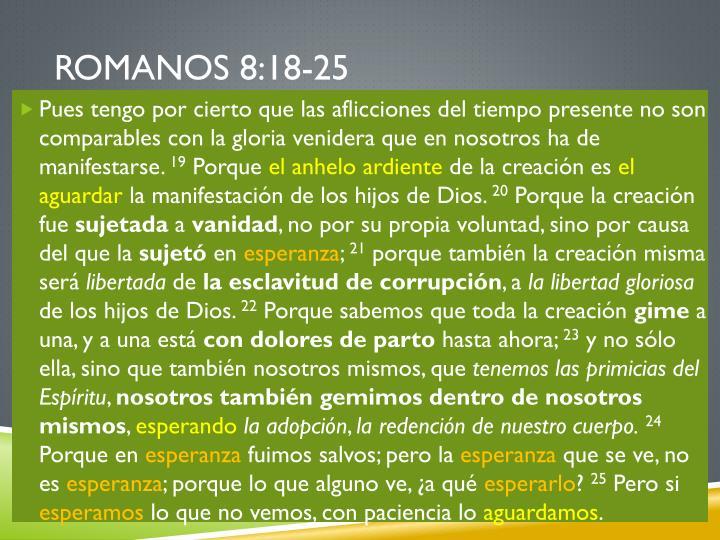 Romanos 8:18-25