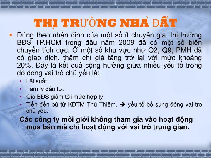 THI TRNG NHA T