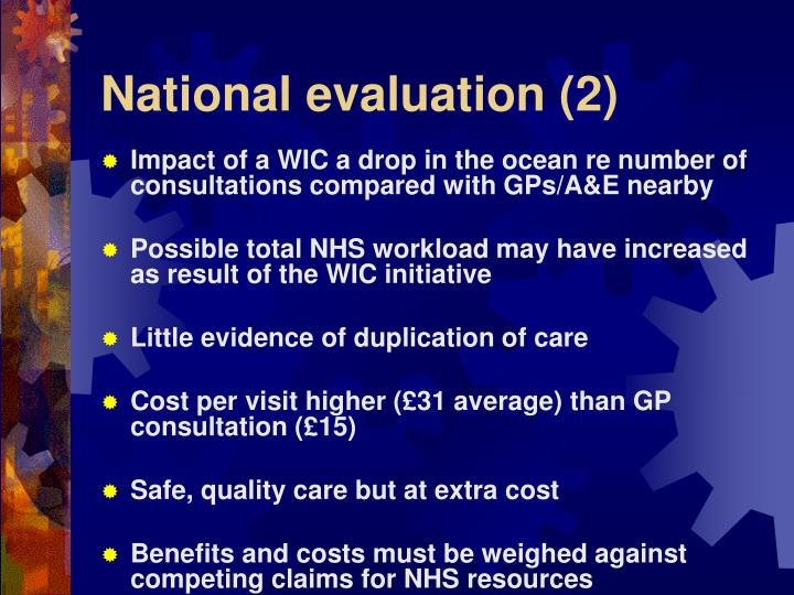 National evaluation (2)