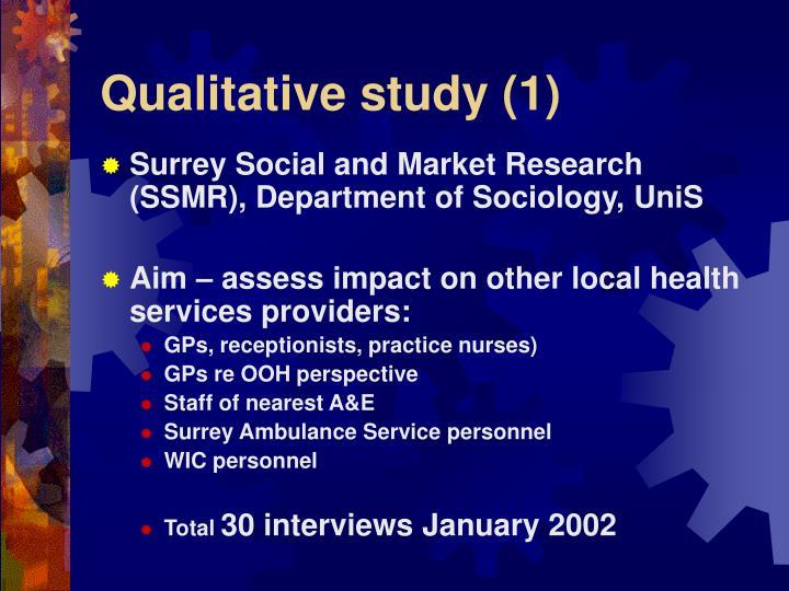 Qualitative study (1)
