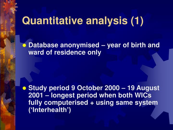 Quantitative analysis (1)