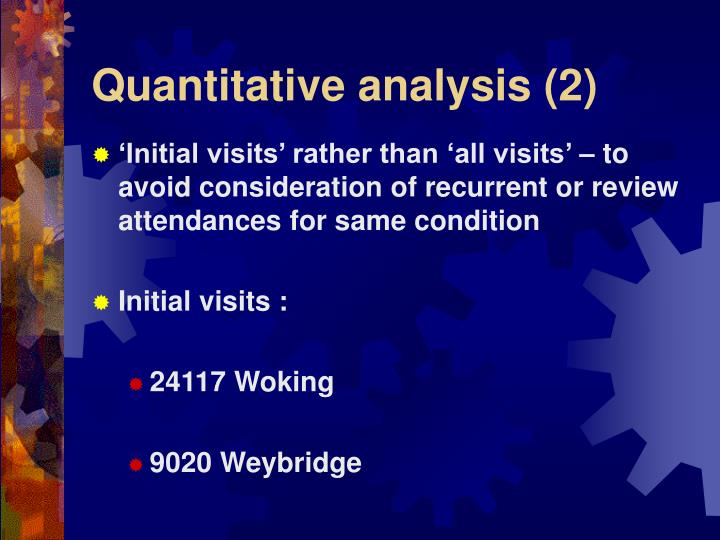 Quantitative analysis (2)