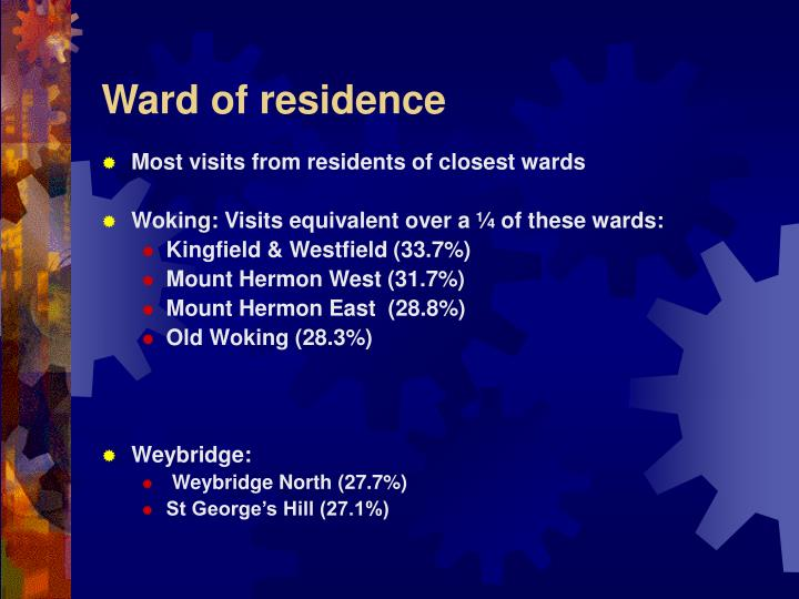 Ward of residence