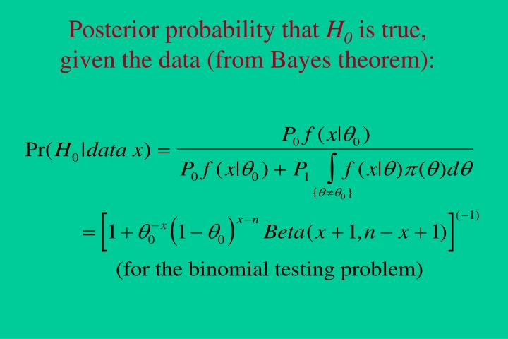 Posterior probability that