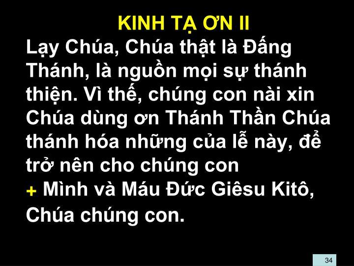 KINH TẠ ƠN II