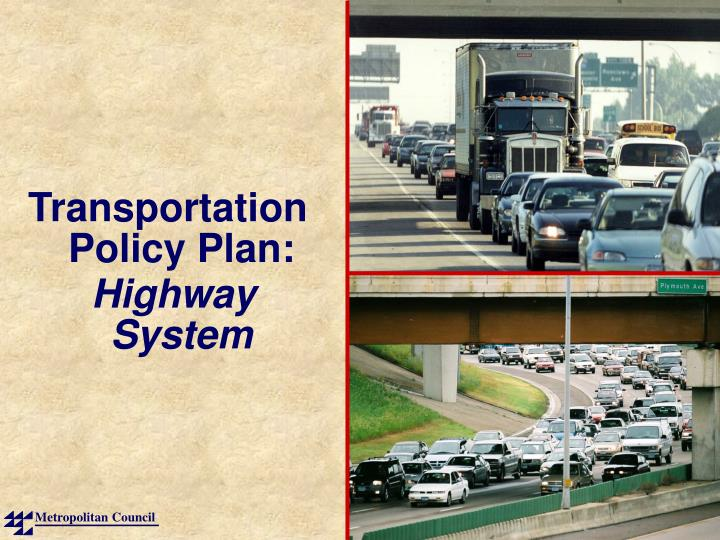 Transportation Policy Plan: