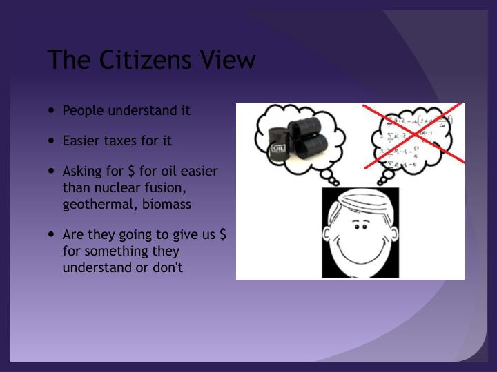 The Citizens View