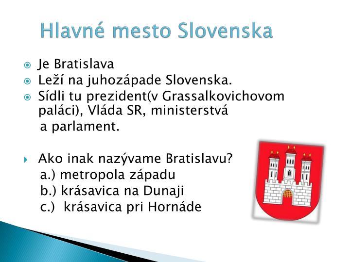 Hlavné mesto Slovenska