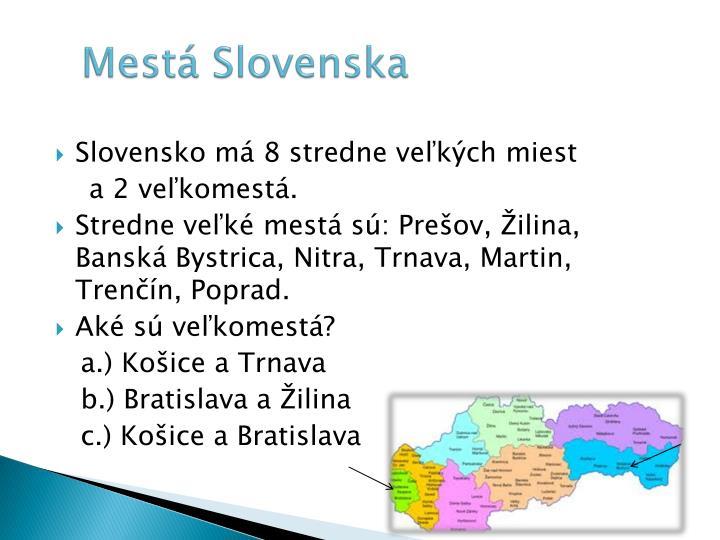 Mestá Slovenska