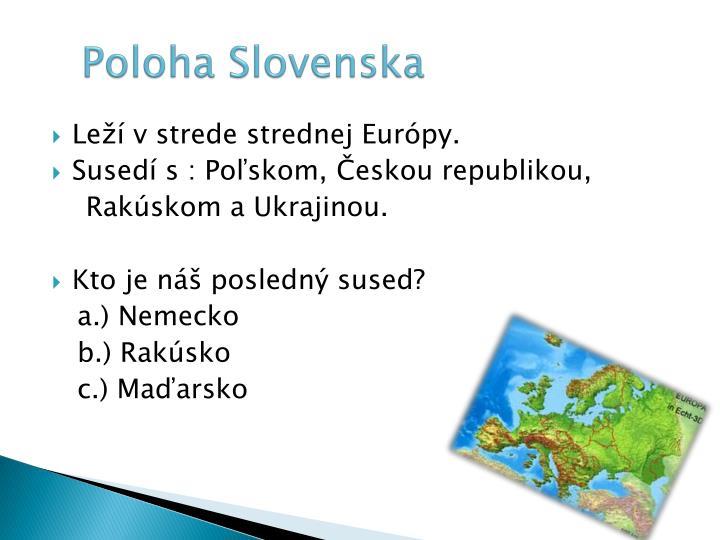 Poloha Slovenska