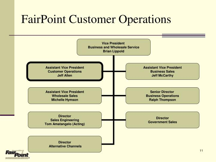 FairPoint Customer Operations