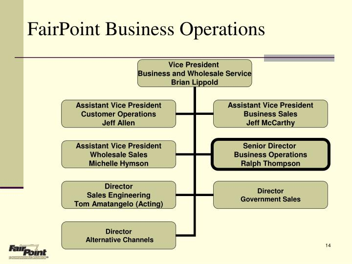 FairPoint Business Operations