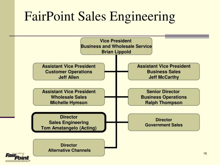 FairPoint Sales Engineering
