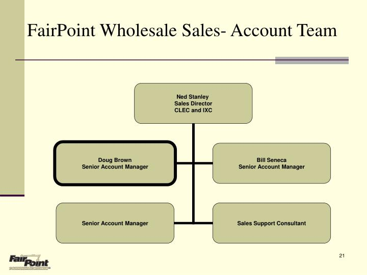 FairPoint Wholesale Sales- Account Team