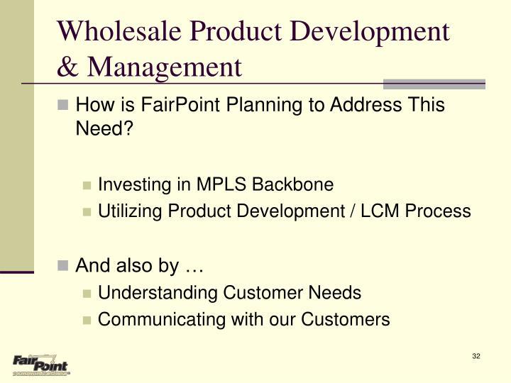 Wholesale Product Development & Management