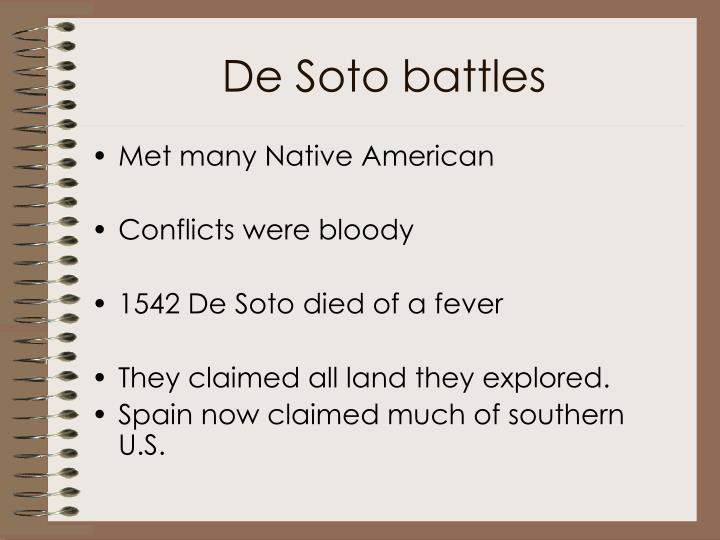 De Soto battles