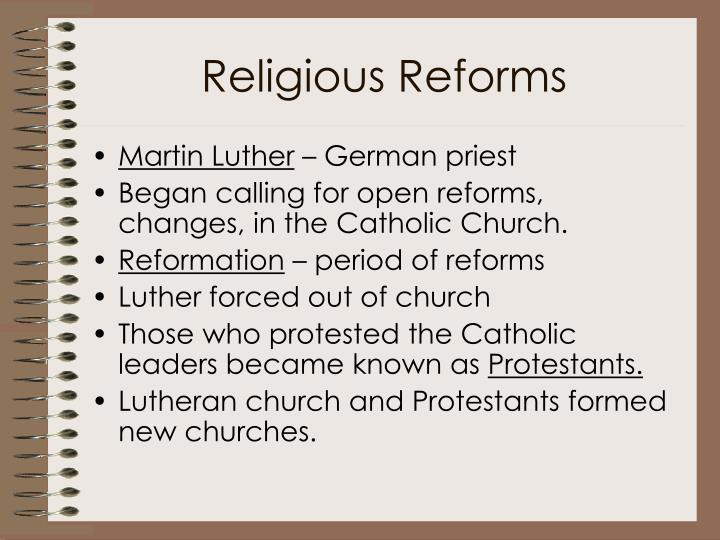 Religious Reforms